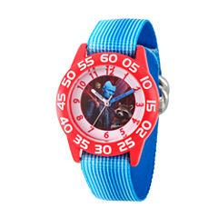Guardian Of The Galaxy Marvel Boys Blue Strap Watch-Wma000125