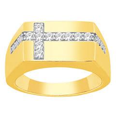 Mens 1/2 CT. T.W. Genuine Round Diamond 10K
