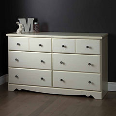 South Shore Country Poetry 6-Drawer Dresser