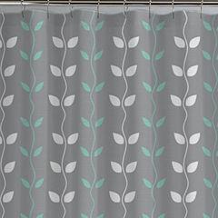 Pacific Coast Textiles Waterproof Organic Vines Printed Shower Curtain Set