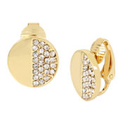 Worthington® Gold-Tone Clip-On Disc Earrings