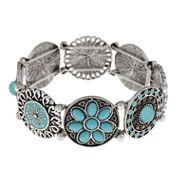 Decree® Silver-Tone Stretch Bracelet