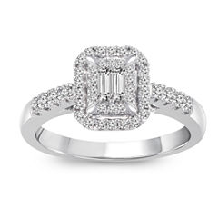 tw diamond 10k white gold engagement ring - Jcpenney Wedding Rings