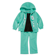 Okie Dokie® Graphic Hoodie, Solid Tunic or Fleece Pants - Baby Girls newborn-24m