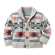 Carter's® Aztec Print Sweater - Baby Boys newborn-24m