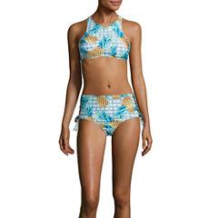 Social Angel High Neck Swimsuit Top or High Waist Bottom-Juniors