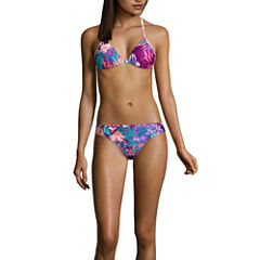 Social Angel Floral Triangle Swimsuit Top or Hipster Bottom-Juniors
