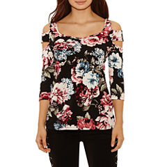 Bold Elements Caged Cold Shoulder Top