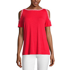 Liz claiborne shirts tops red for women jcpenney for Liz claiborne v neck t shirts