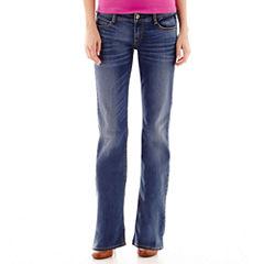 Arizona Bootcut Jeans-Juniors