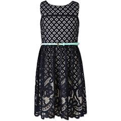 Speechless Burnout Lace Dress - Girls' 7-16