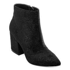 First Love By Penny Loves Kenny Pointed-Toe Wedge Ankle Boots