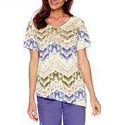 Alfred Dunner® Cyprus Short-Sleeve Print Top