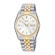 Seiko® Mens Two-Tone Stainless Steel Dress Watch SGF204