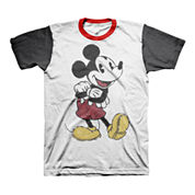Colorblock Mickey Mouse Graphic Tee