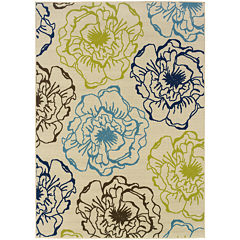 Covington Home Ink Floral Indoor/Outdoor Rectangular Rug