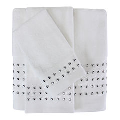 Color Drift Nailhead Foil Bath Towel Collection