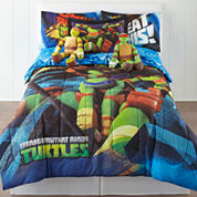 nickelodeon Teenage Mutant Ninja Turtles Twin/Full Reversible Comforter + BONUS Sham Collection