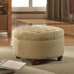 Roslyn Tufted Round Storage Ottoman