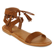 Bamboo Bayside Tassel Flat Sandals