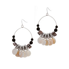 EL by Erica Lyons El By Erica Lyons Black Naturals Drop Earrings