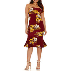 Bisou Bisou Sleeveless Floral Bodycon Dress