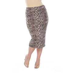 White Mark Jordan Pencil Skirt Plus