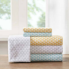 Intelligent Design Triangle Microfiber Easy Care Sheet Set