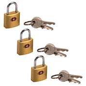 3-pk. Travel Sentry Mini Brass Padlock