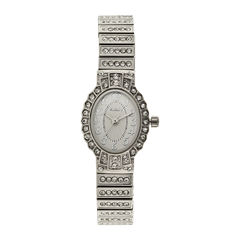 Elgin® Womens Silver-Tone Expansion Bracelet Watch
