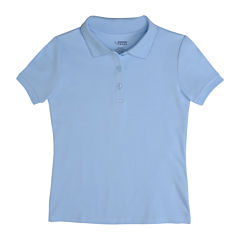 French Toast Short Sleeve Knit Polo Shirt - Toddler Girls