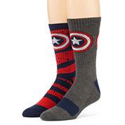 Marvel® Captain America 2-pk. Athletic Crew Socks