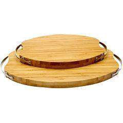 La Cote 2-pc. Bamboo Bread Board Set