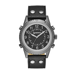 Arizona Mens All Black Strap Watch
