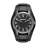 Arizona Mens Black Dial Strap Watch