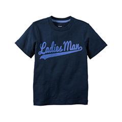 Carter's® Short-Sleeve Navy Ladies Man Slogan Knit Tee - Boys 4-8