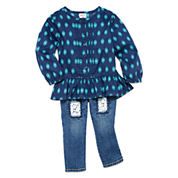 Arizona Woven Top or Denim Jeans - Baby Girls 3m-24m