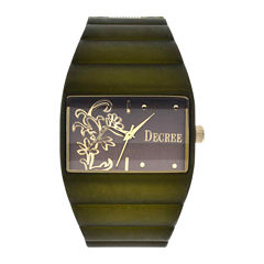 Decree® Womens Floral Dial Bangle Watch