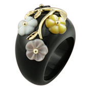 Onyx & Mother-of-Pearl Ring