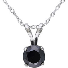 Midnight Black Diamond 1 CT. T.W. Round Color-Enhanced Black Diamond Pendant Necklace
