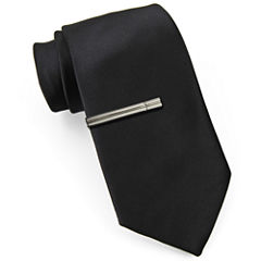 JF J. Ferrar® Slim Tie with Tie Bar