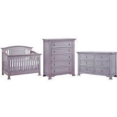 Murnire Medford 3-PC Baby Furniture Set- Grey