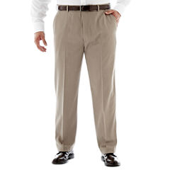 Stafford® Travel Endurance Flat-Front Pants–Big & Tall