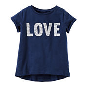 Carter's® Short-Sleeve Navy Knit Tee - Girls 4-8