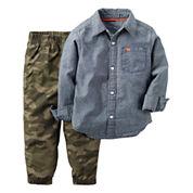 Carter's® 2-pc. Chambray-Camo Shirt and Pants Set - Toddler Boys 2t-5t