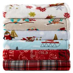 North Pole Trading Co.™ Velvet Plush Holiday Throw