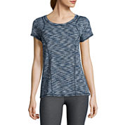 Xersion™ Short-Sleeve Space-Dye Elastic-Back Tee