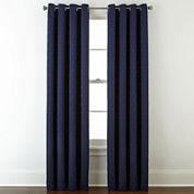 Studio™ Luna Grommet-Top Lined Textured Blackout Curtain Panel