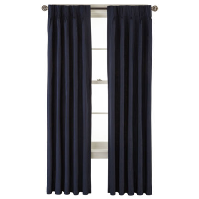 High Quality Royal Velvet® Supreme Pinch Pleat/Back Tab Lined Curtain Panel