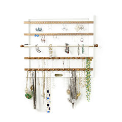 Hives & Honey Wall Mounted White Jewelry Accessory Frame